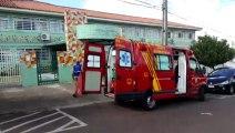 Corpo de Bombeiros socorre crianças na Escola Luiz Vianey Pereira