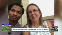 She texted the wrong teen. Now it's their fourth Thanksgiving