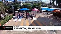 ویدئو؛ خط کشیهای سه بعدی، راه حل تایلند برای کاهش شمار تصادفها