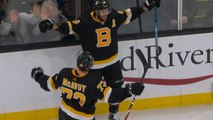 Krejci wins it in overtime on Pastrnak's glorious set-up