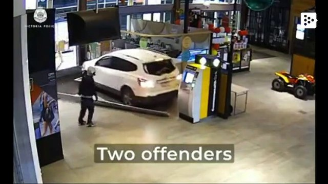 Thieves attempt to rob an ATM and destroy a car in the process in Australia