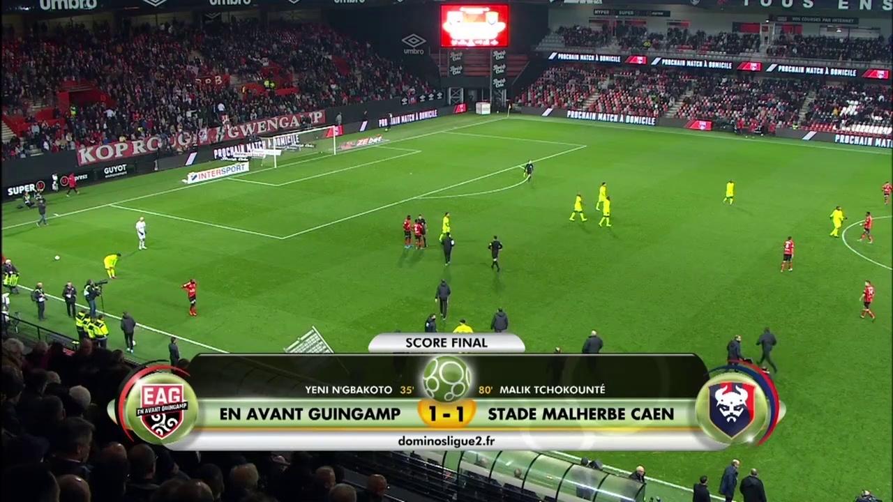 Le résumé du match EA Guingamp / SMCaen