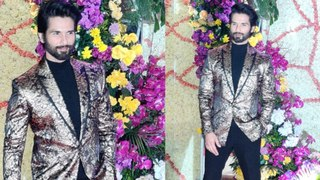 Shahid Kapoor ROYAL Look At The GRAND Reception Of Sooraj Barjatya's Son Devaansh Barjatya's Wedding