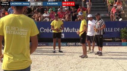 32ème Jessy LACROIX vs FAUDON : Europétanque des Alpes-Maritimes 2019