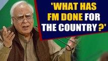 Kapil Sibal slams FM Nirmala Sitharaman over fall in GDP    OneIndia News
