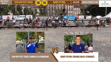 Demi-finale tête-à-tête Jean-Baptiste TAVIER vs Randy PEYROL : Le Puy-en-Velay été 2019
