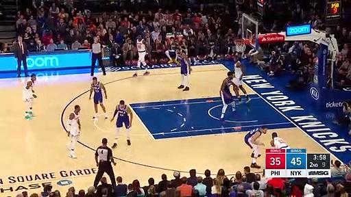 Philadelphia 76ers 101 - 95 New York Knicks