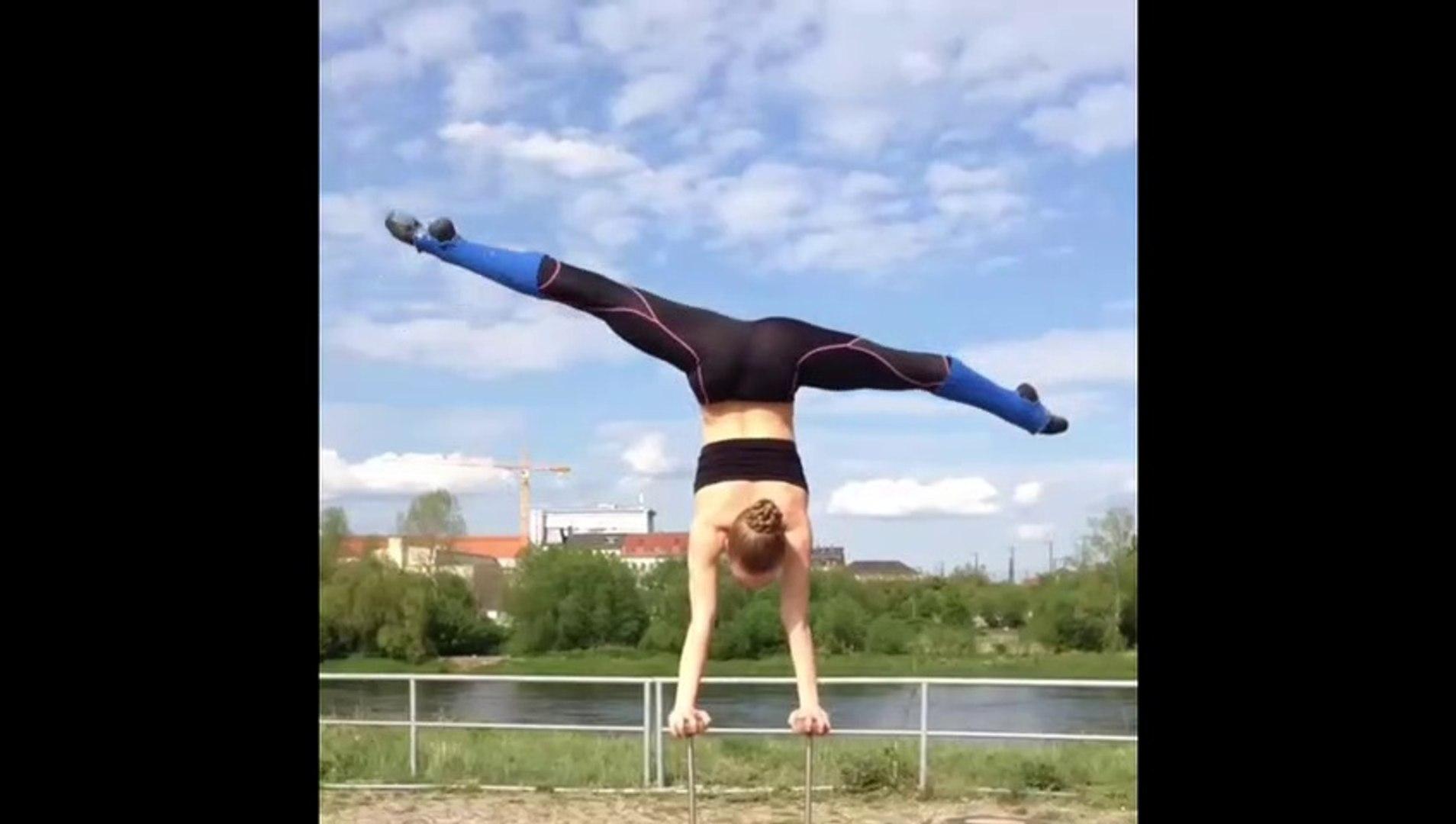 Crazy Handstand & Flexibility! Gymnastic motivation by Kelly Saabel
