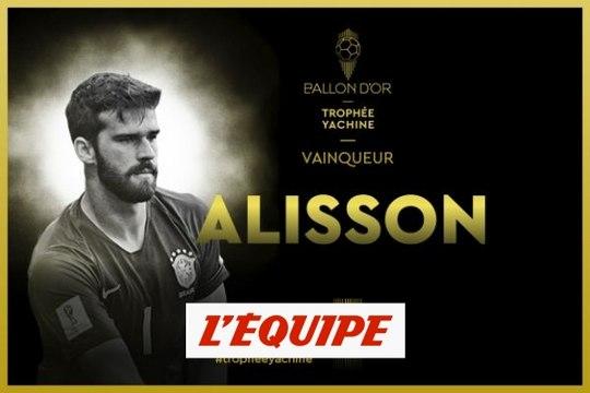 Alisson (Liverpool) élu meilleur gardien de l'année - Foot - Trophée Yachine France Football 2019