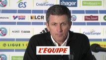 Laurey «On ne peut s'en prendre qu'à nous-mêmes» - Foot - L1 - Strasbourg