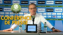 Conférence de presse AJ Auxerre - US Orléans (2-2) : Jean-Marc FURLAN (AJA) - Didier OLLE-NICOLLE (USO) - 2019/2020