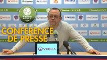 Conférence de presse Clermont Foot - Chamois Niortais (1-0) : Pascal GASTIEN (CF63) - Pascal PLANCQUE (CNFC) - 2019/2020