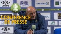 Conférence de presse FC Chambly - AC Ajaccio (0-2) : Bruno LUZI (FCCO) - Olivier PANTALONI (ACA) - 2019/2020