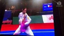 Agatha Wong in the SEA Games 2019 wushu taolu taijiquan final