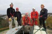 VIDEO. Tours : au sommet du château d'eau, avec les spéléologues de Touraine