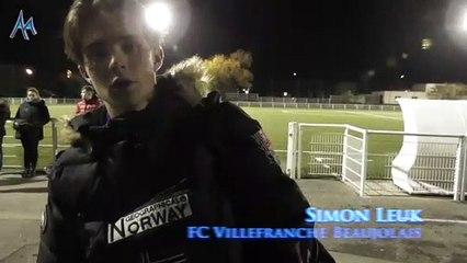 """Simon Leuk (FC Villefranche Beaujolais U18) : """"Une défaite qui peut nous servir"""""""