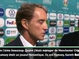 """Euro 2020 - Mancini : """"Contre Ramsey et Bale, un match difficile"""""""