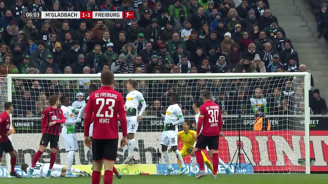 Mönchengladbach - Freiburg (4-2) - Maç Özeti - Bundesliga 2019/20