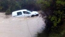 Intempéries - Pierrerue : l'hélicoptère intervient pour sauver une personne bloquée dans son véhicule