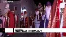 70 Pères Noël rassemblés en Allemagne