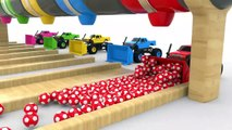 Colors for Children To Learn With Bulldozer Car Truck Street Vehicles  Soccer Color Balls