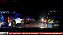 Trois morts dans le crash d'un hélicoptère de la sécurité civile : nos premières images au Rove