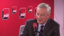 """Bruno Le Maire, ministre de l'Économie, sur la taxation des GAFA : """"Mon message va être clair. Nous n'abandonnerons jamais cette volonté de taxer de manière juste les géants du numérique, pour avoir une fiscalité du XXIe siècle quoi soit juste"""""""