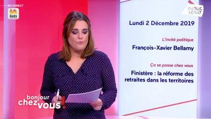 François-Xavier Bellamy - Public Sénat lundi 2 décembre 2019