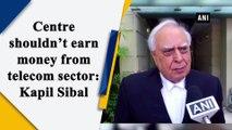 Centre shouldn't earn money from telecom sector: Kapil Sibal