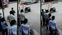VIDEO: पहले मारी बाइक सवार को टक्कर, फिर गिरे हुए को टैक्सी से रौंदकर भागा निर्दयी ड्राइवर