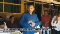 All allegations are false: Fadnavis on Hegde's claim