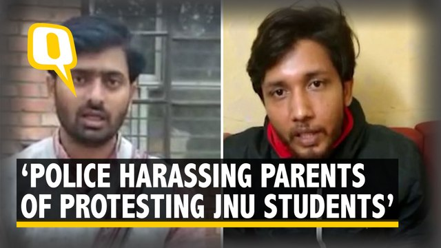 Police Are Going to Our Homes and Harassing Our Parents, Allege JNUSU students