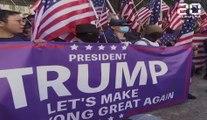 Hong Kong: Les manifestants entonnent l'hymne américain en hommage à Trump