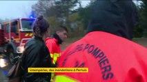 Vaucluse : les intempéries ont fait céder la digue au Pertuis