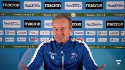 Conférence de presse de Jean-Marc Furlan avant AJA-Valenciennes FC