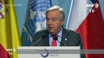 """El mundo debe elegir entre """"esperanza"""" o """"capitulación"""", dice Guterres al abrir la COP25"""