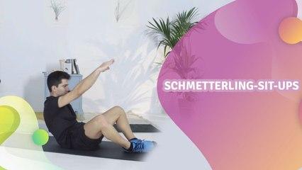 Schmetterling-Sit-ups - Besser gesund Leben