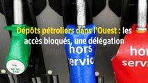 Dépôts pétroliers dans l'Ouest : les accès bloqués, une délégation attendue à Bercy