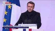 """Emmanuel Macron salue """"13 destins français, 13 visages, 13 vies données"""""""