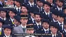 """Regardez l'hommage d'Emmanuel Macron aux 13 soldats tués au Mali lors de la cérémonie aux Invalides: """"Au nom de la nation, je m'incline devant leur sacrifice"""" - VIDEO"""
