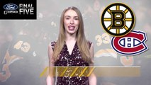 Ford Final Five Facts: Bruins Comeback Win vs. Canadiens