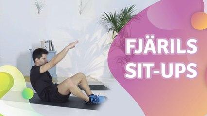 Fjärils sit-ups - Steg för Hälsa
