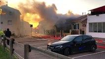 Violent feu d'habitation en cours à Carro