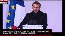 Emmanuel Macron : son discours émouvant aux Invalides pour les soldats morts (vidéo)