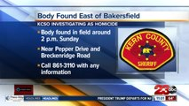 Body found in field east of Bakersfield