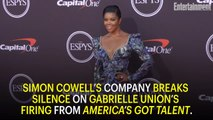 Simon Cowell's Company Breaks Silence on Gabrielle Union's America's Got Talent Firing