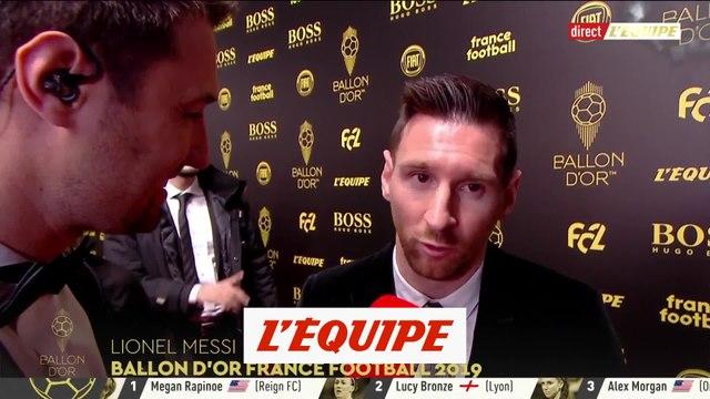 Messi «Je suis le seul à avoir 6 Ballons d'Or» - Foot - Ballon d'Or