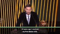 Messi vows stay at top level after winning sixth Ballon d'Or