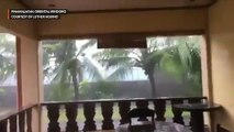 Pinamalayan, Oriental Mindoro faces strong winds and heavy rains from Typhoon Tisoy