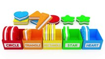 Learn Shapes with Toy Train and Cookies for Kids